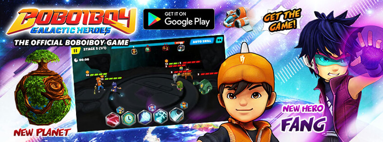 Play the NEW BoBoiBoy : Galactic Heroes RPG, explore the Galaxy and fight enemies!