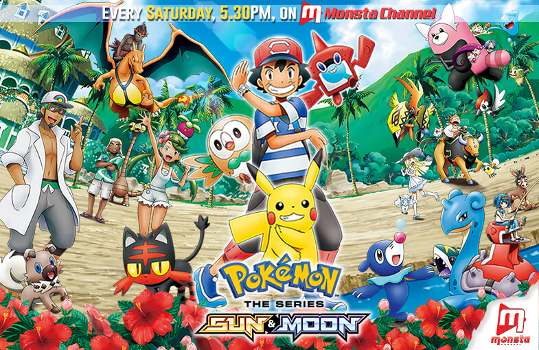NEW Pokémon Sun & Moon Series Streaming on Monsta Channel, 7 April 2018!
