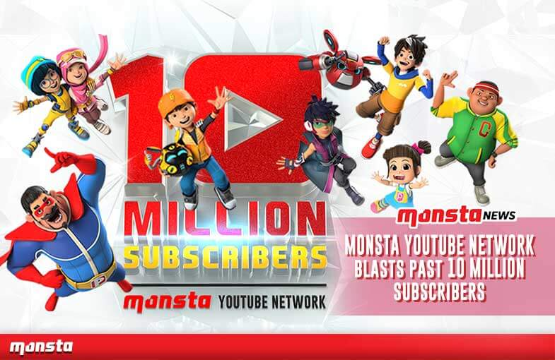 Monsta YouTube Network Blasts Past 10 Million Subscribers