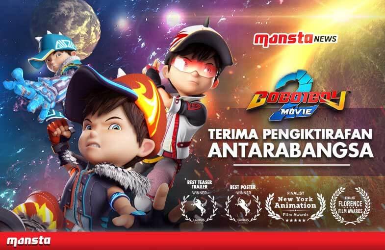 BoBoiBoy Movie 2 Menerima Pengiktirafan Menerusi Pelbagai Anugerah Antarabangsa